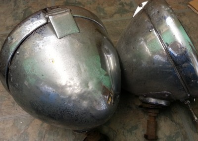 10 inch P80 Headlamps Before
