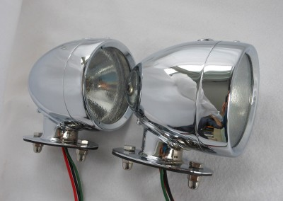 Rotax K515 Side light tall base Chrome Finish