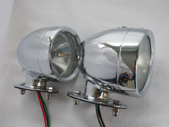 image 13. Rotax K515 Side light tall base Chrome Finish