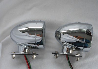 Rotax K515 Side light tall base Chrome..