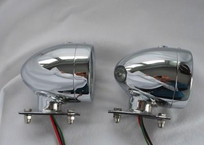 image 14. Rotax K515 Side light tall base Chrome..