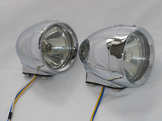 image 16. Rotax K515 Side light solid cast base Chrome finish