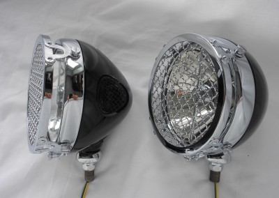 Lucas FT 58 with Stoneguards on Brackets, Can be used as Headlamps