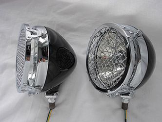 image 5. Lucas FT 58 with Stoneguards on Brackets, Can be used as Headlamps