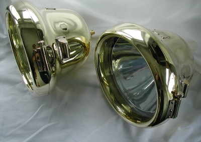 C.A.V  13 inches plus matching side light model FS Brass finish.